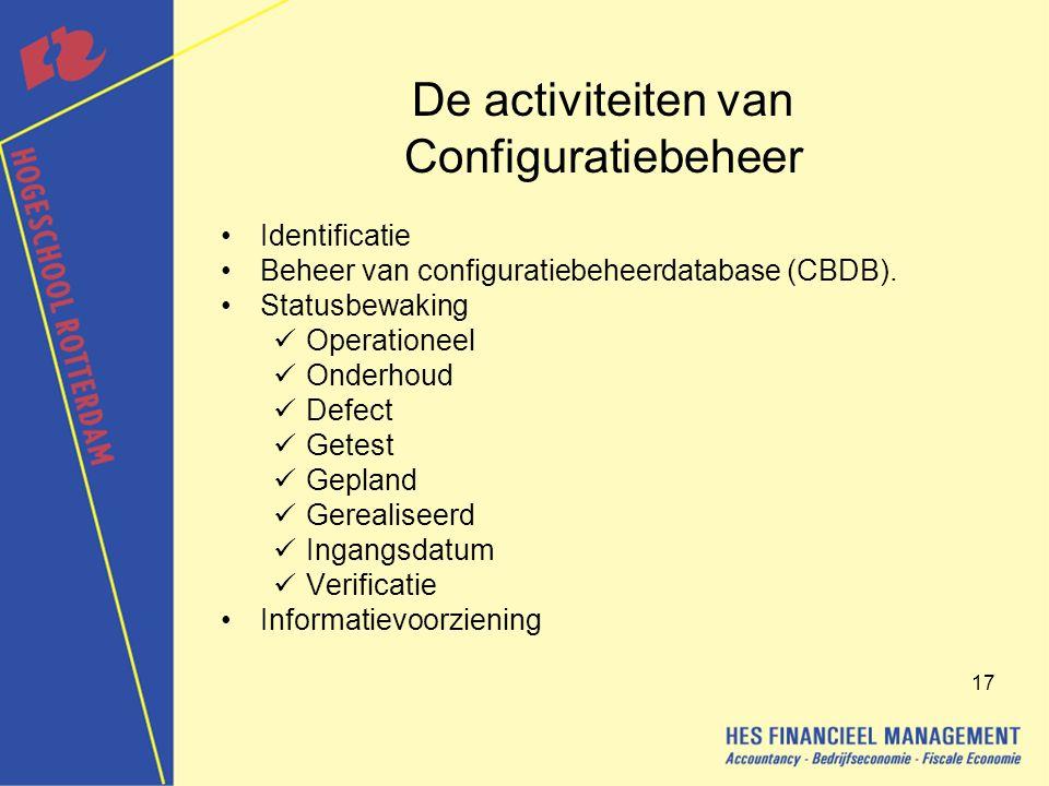 De activiteiten van Configuratiebeheer