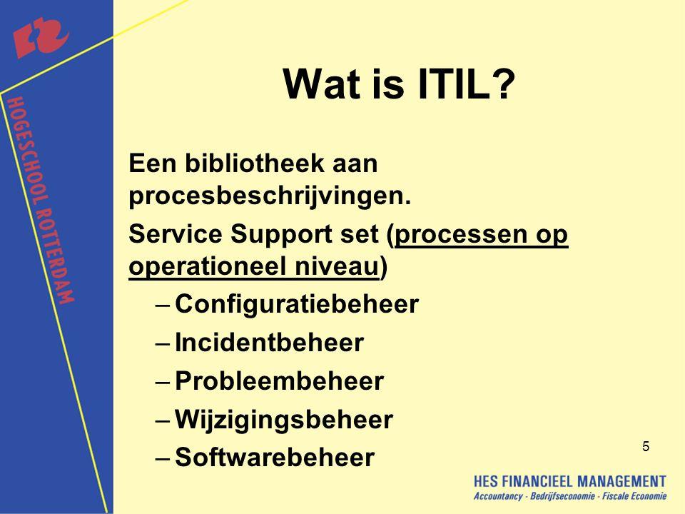 Wat is ITIL Een bibliotheek aan procesbeschrijvingen.