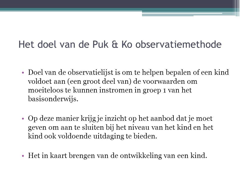 Het doel van de Puk & Ko observatiemethode