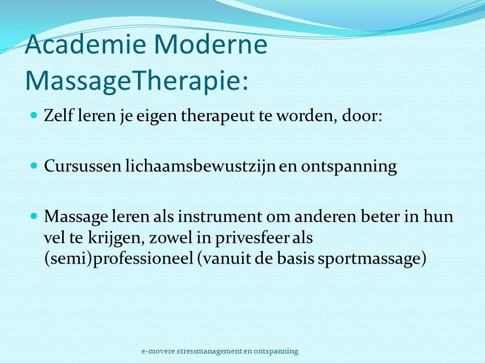 Academie Moderne MassageTherapie:
