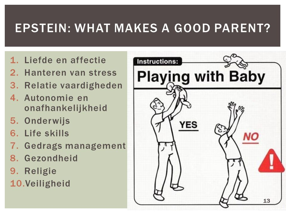 Epstein: what makes a good parent