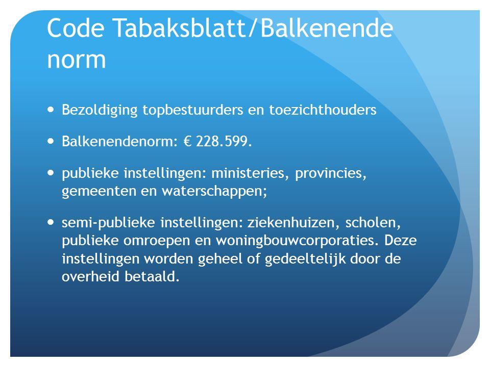 Code Tabaksblatt/Balkenende norm