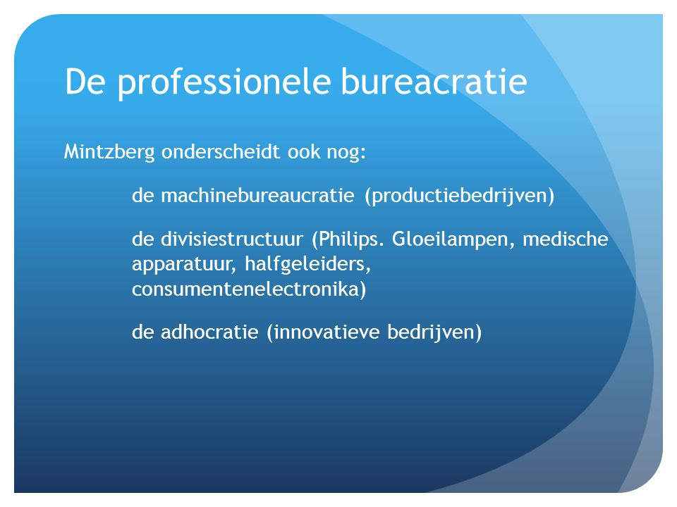 De professionele bureacratie