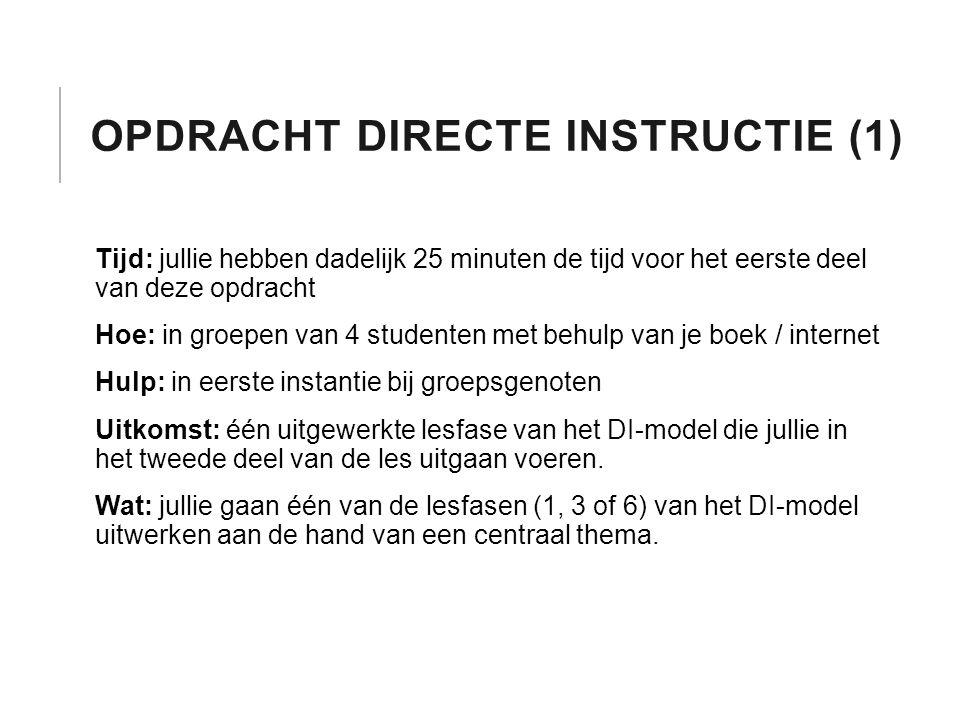 Opdracht Directe instructie (1)