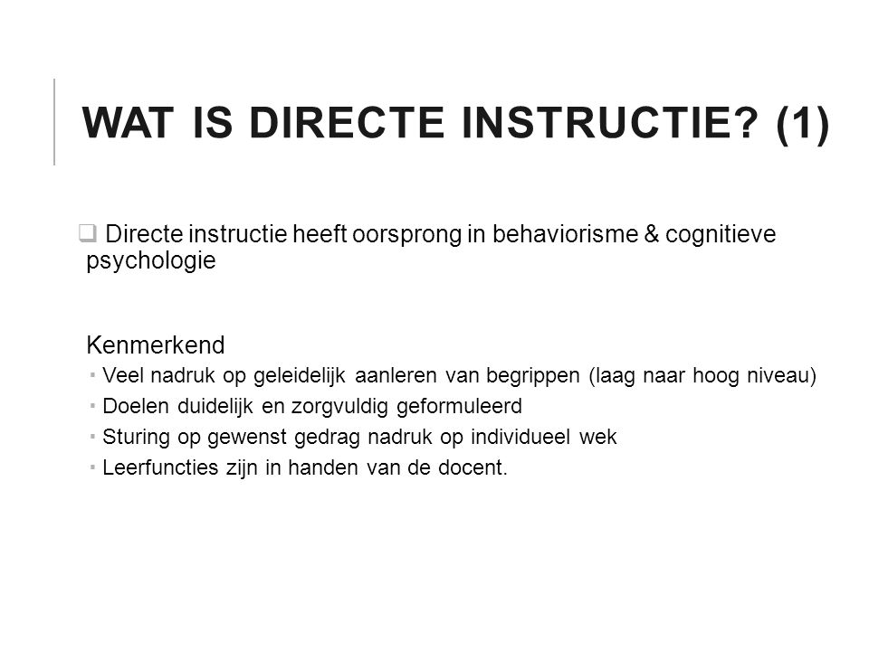 Wat is directe instructie (1)