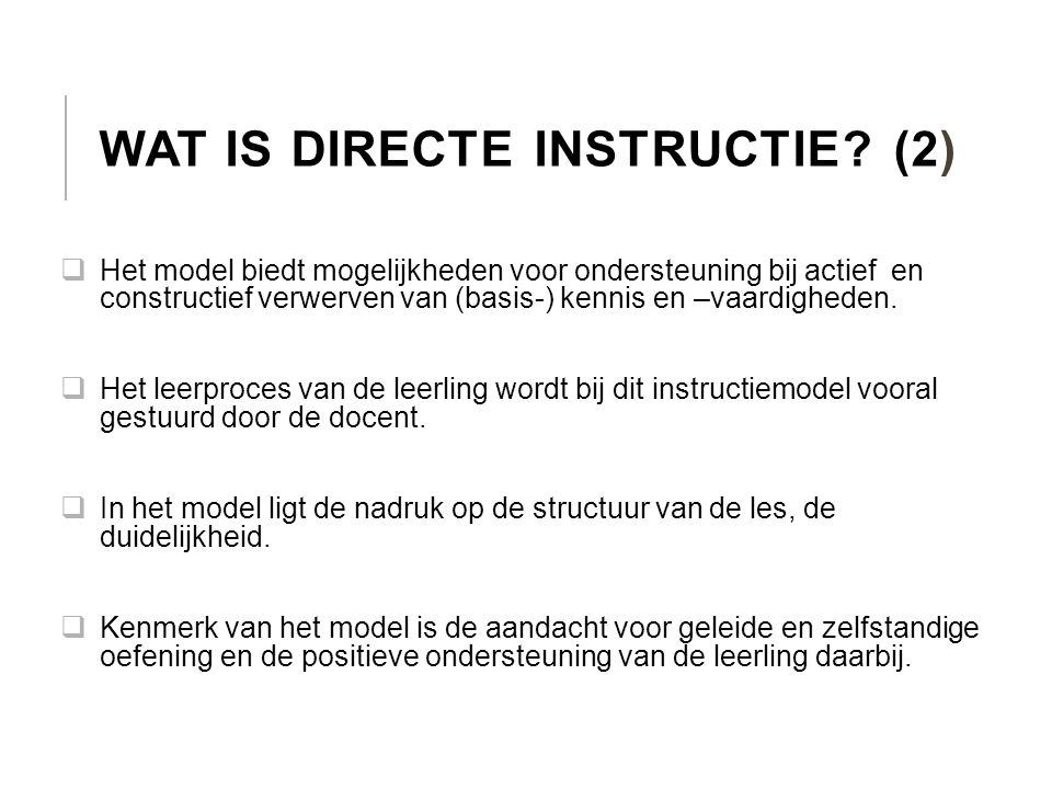 Wat is directe instructie (2)