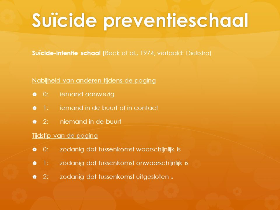 Suïcide preventieschaal