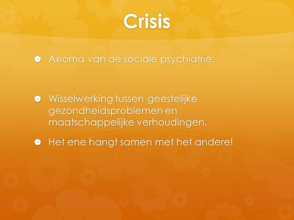 Crisis Axioma van de sociale psychiatrie: