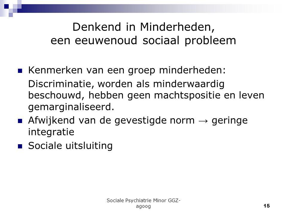Denkend in Minderheden, een eeuwenoud sociaal probleem