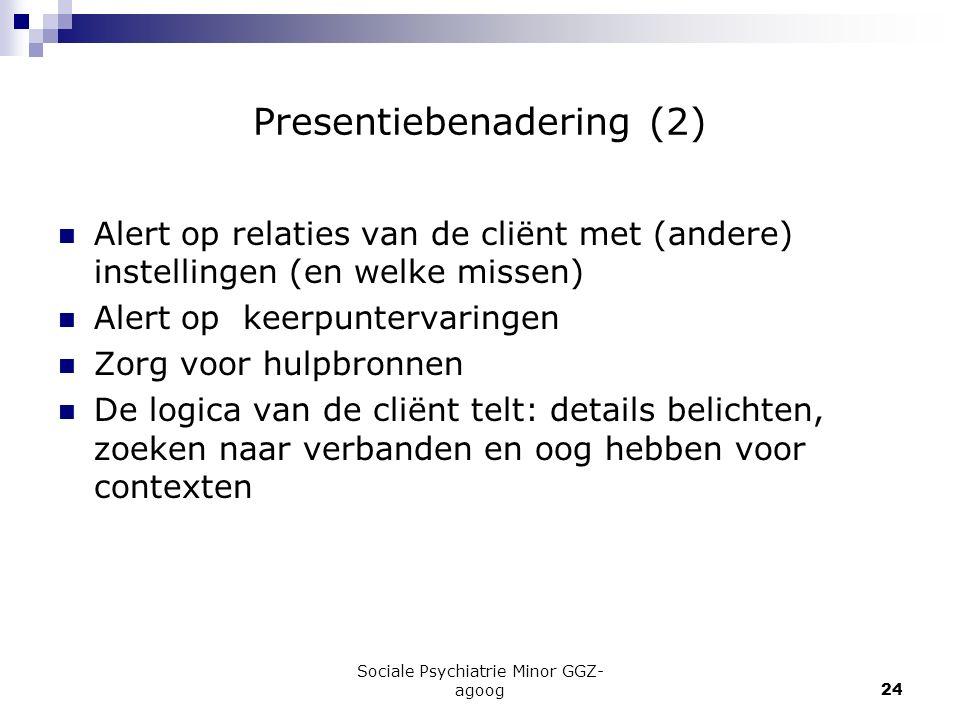 Presentiebenadering (2)