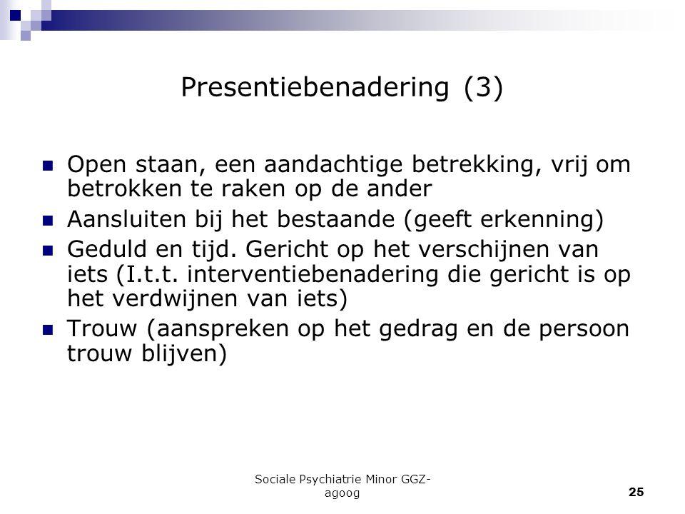 Presentiebenadering (3)