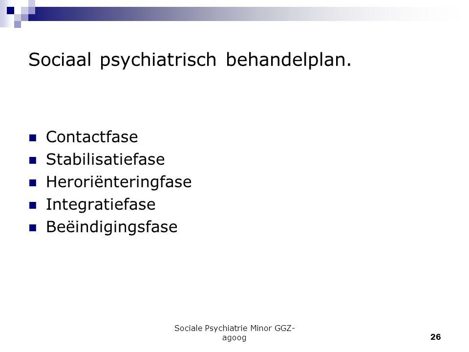 Sociaal psychiatrisch behandelplan.