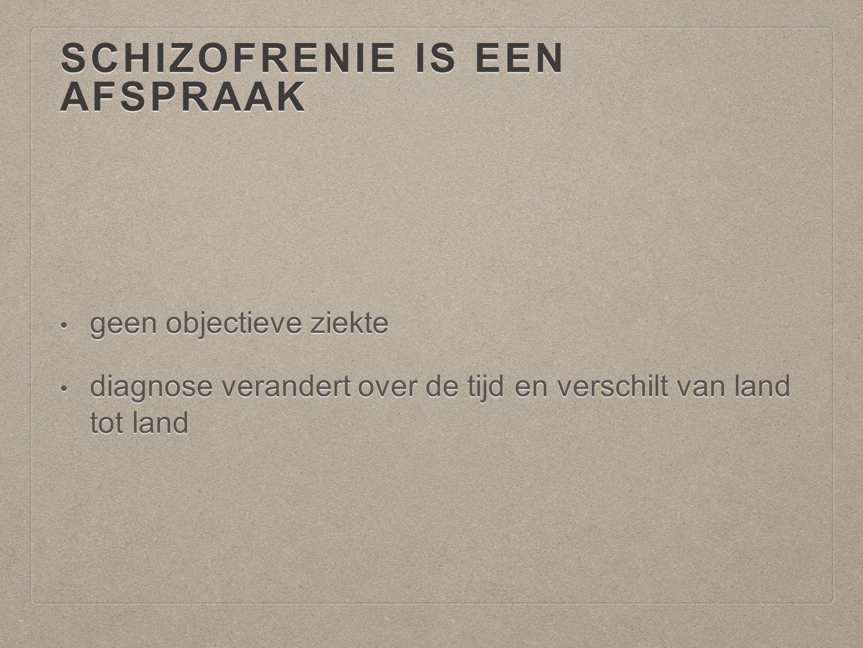 Schizofrenie is een afspraak