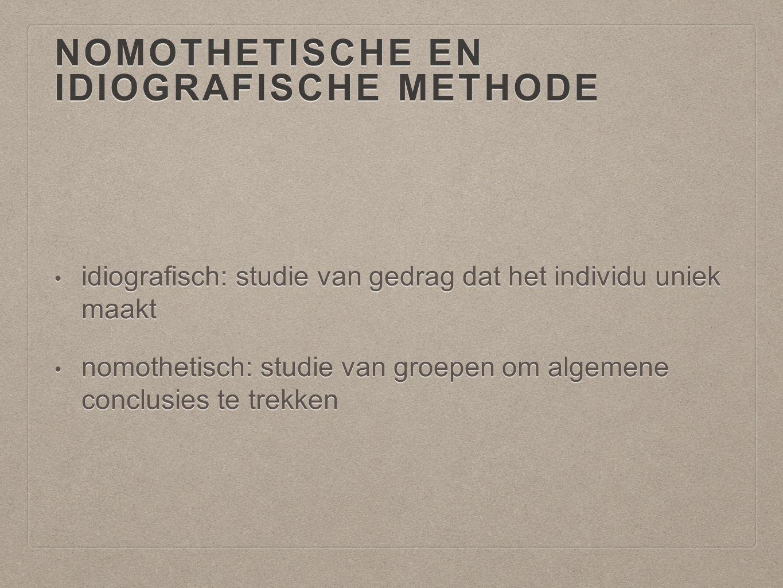 Nomothetische en idiografische methode
