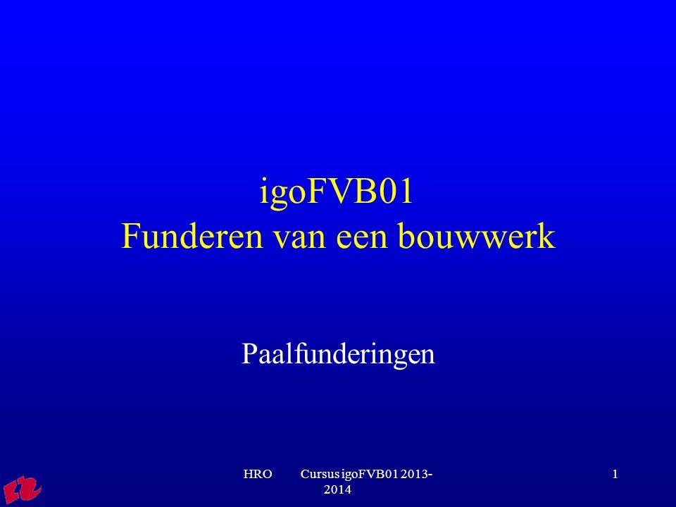 igoFVB01 Funderen van een bouwwerk