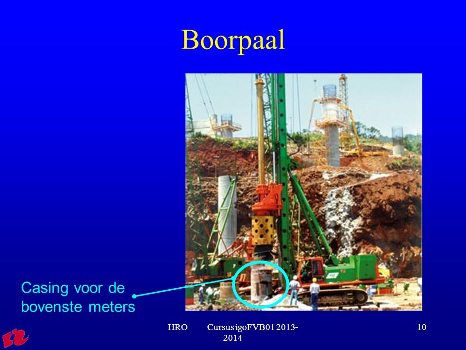 Boorpaal Casing voor de bovenste meters HRO Cursus igoFVB01 2013-2014