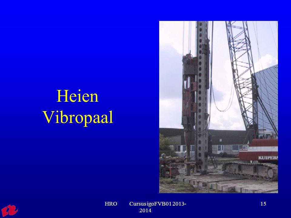 Heien Vibropaal HRO Cursus igoFVB01 2013-2014