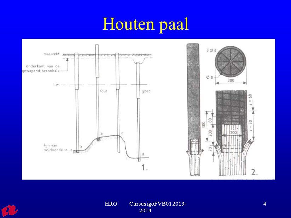 Houten paal HRO Cursus igoFVB01 2013-2014