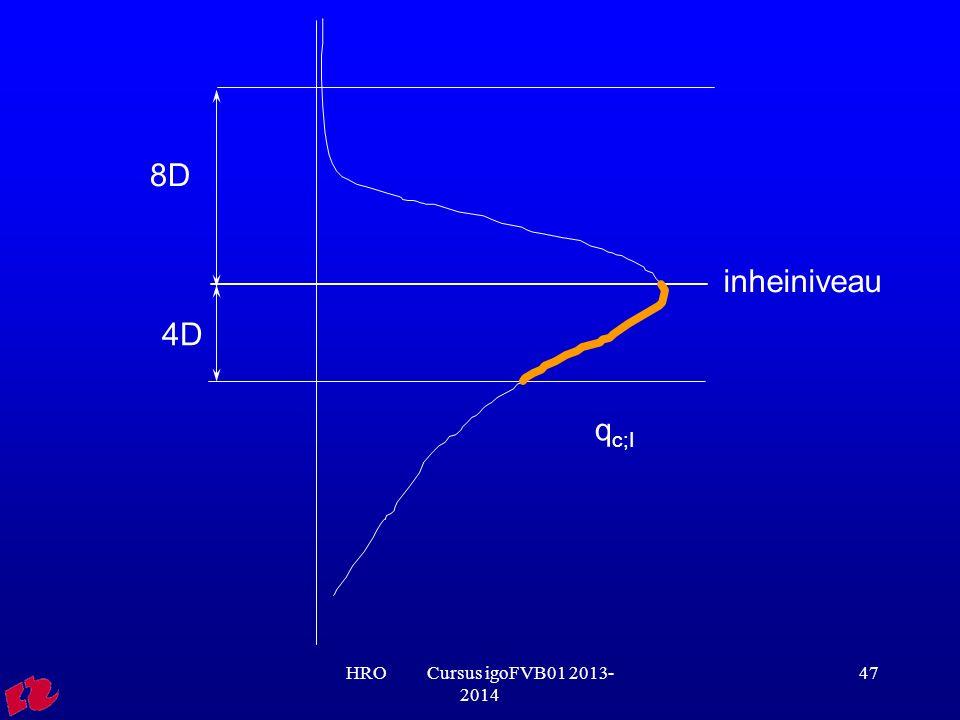 8D inheiniveau 4D qc;I HRO Cursus igoFVB01 2013-2014