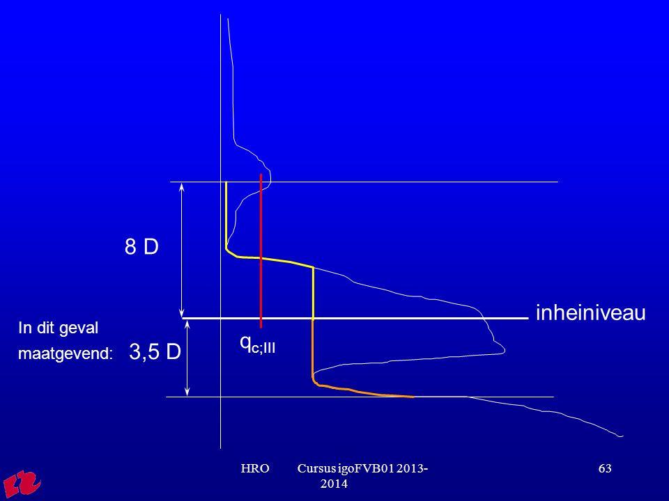 8 D inheiniveau qc;III In dit geval maatgevend: 3,5 D