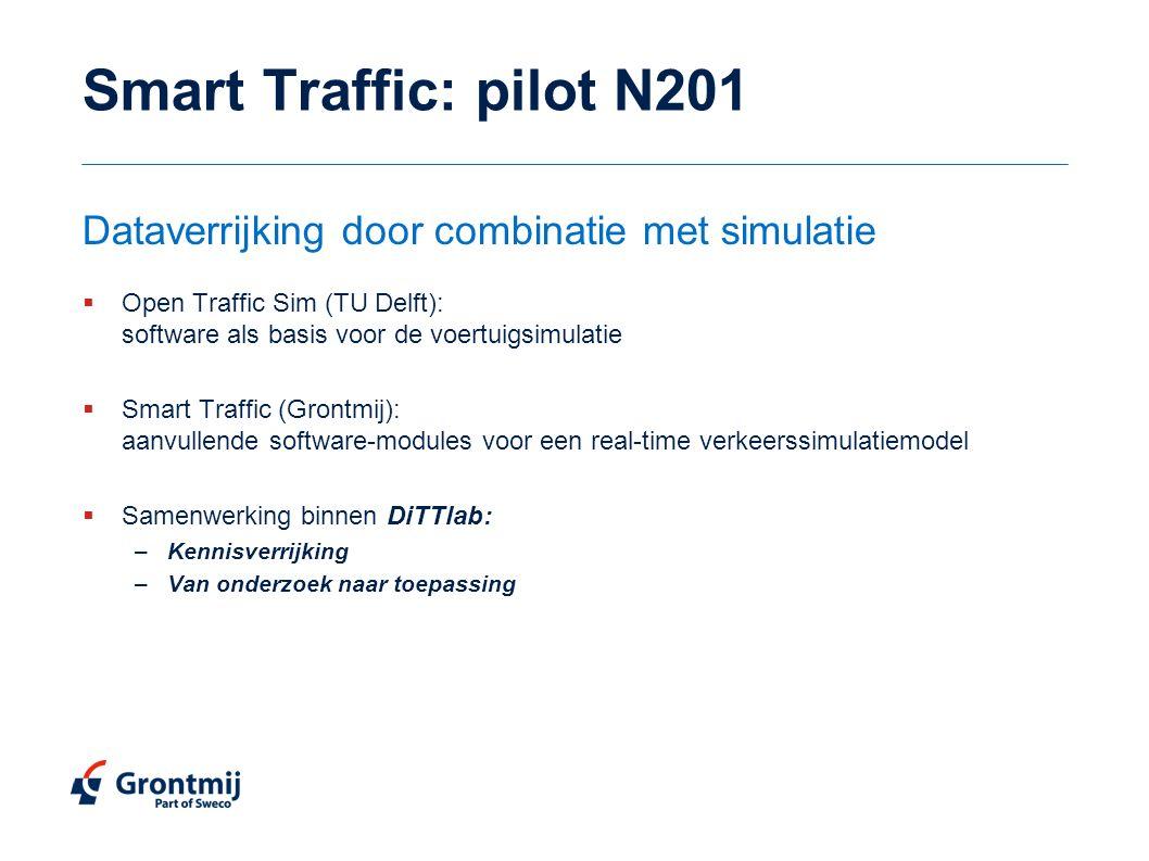 Smart Traffic: pilot N201 Dataverrijking door combinatie met simulatie