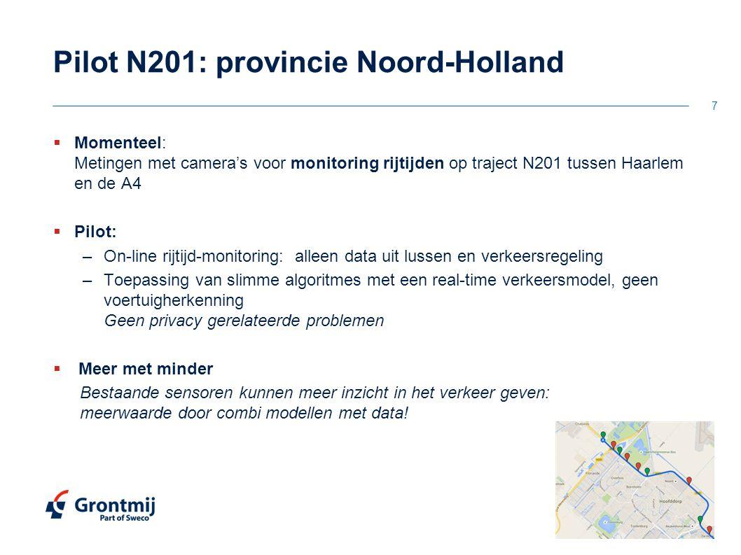 Pilot N201: provincie Noord-Holland