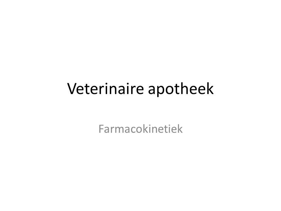Veterinaire apotheek Farmacokinetiek