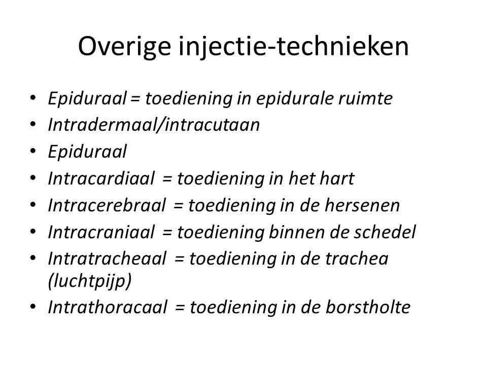 Overige injectie-technieken