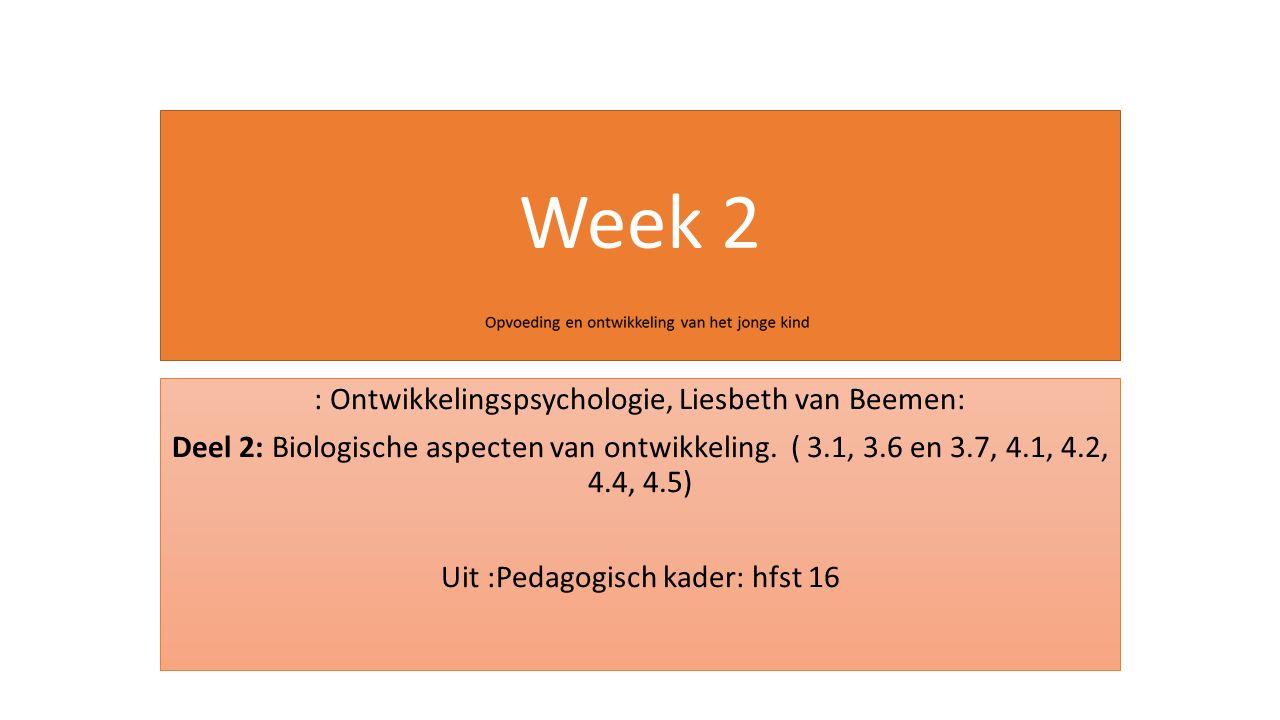 Week 2 : Ontwikkelingspsychologie, Liesbeth van Beemen: