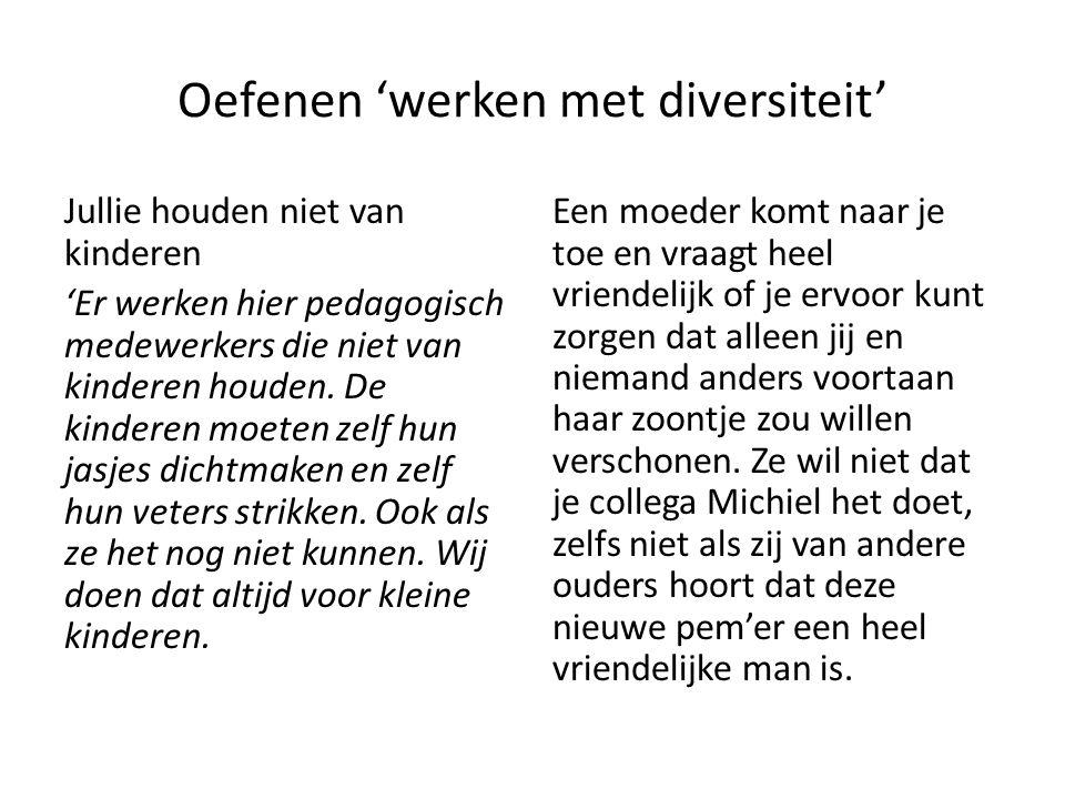 Oefenen 'werken met diversiteit'