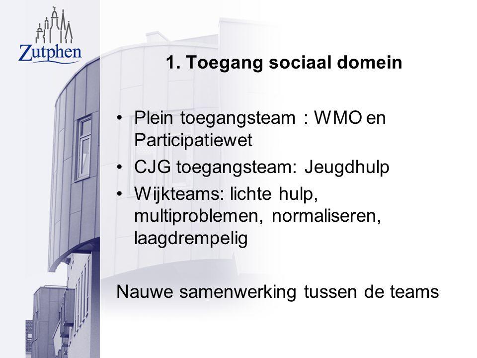 1. Toegang sociaal domein