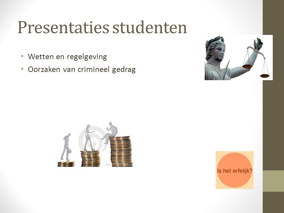 Presentaties studenten