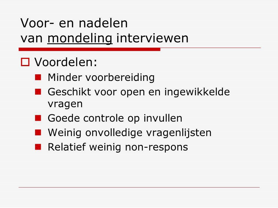 Voor- en nadelen van mondeling interviewen