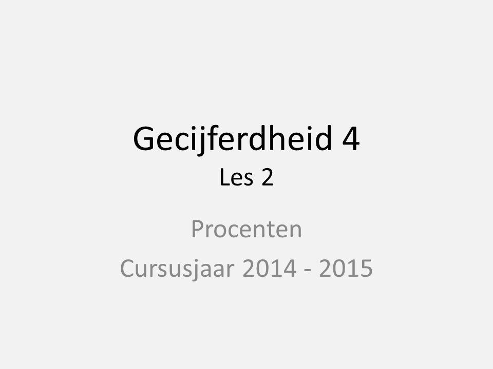 Procenten Cursusjaar 2014 - 2015