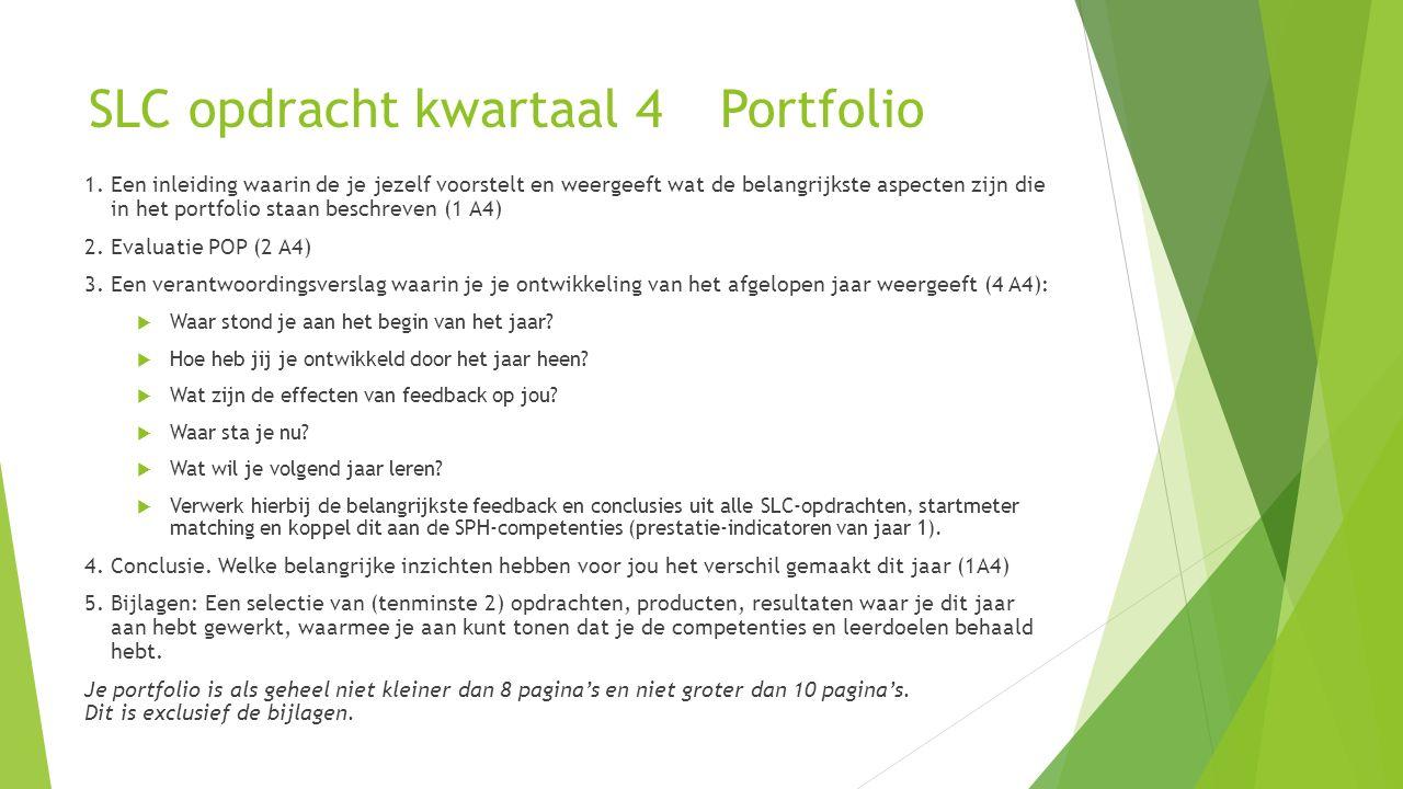 SLC opdracht kwartaal 4 Portfolio