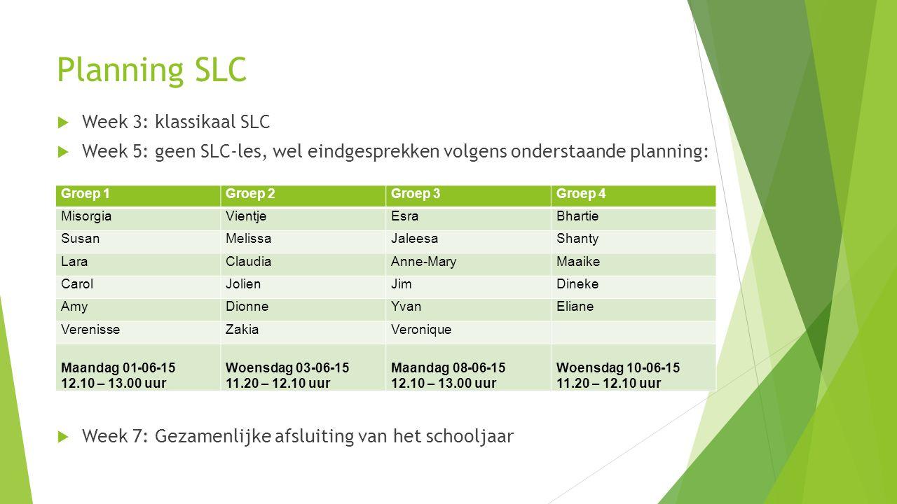 Planning SLC Week 3: klassikaal SLC