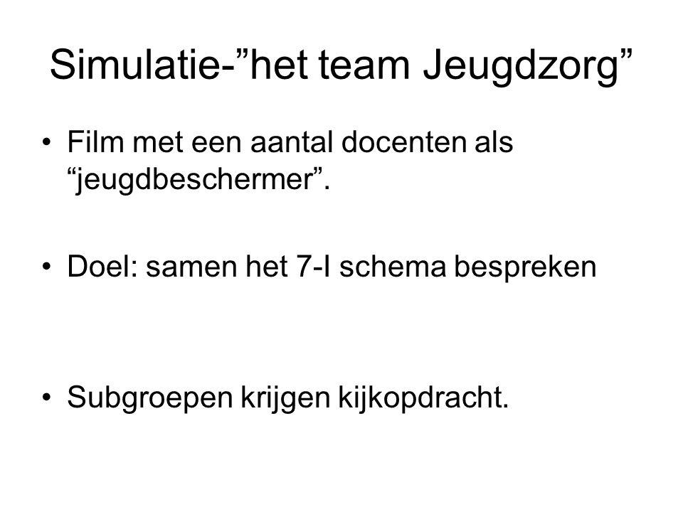 Simulatie- het team Jeugdzorg