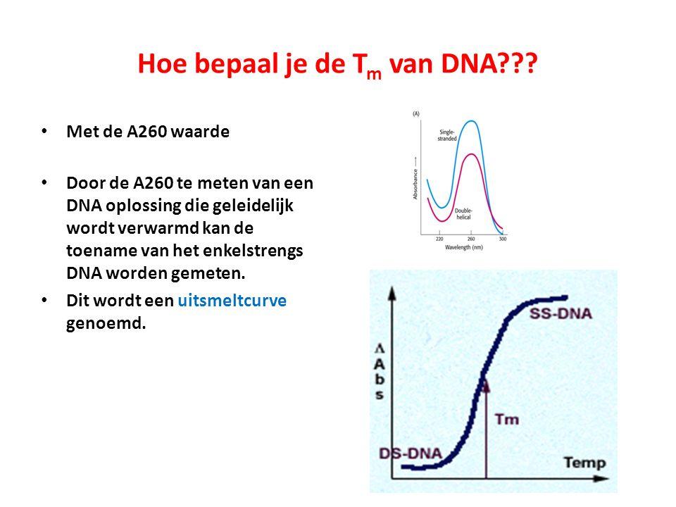 Hoe bepaal je de Tm van DNA
