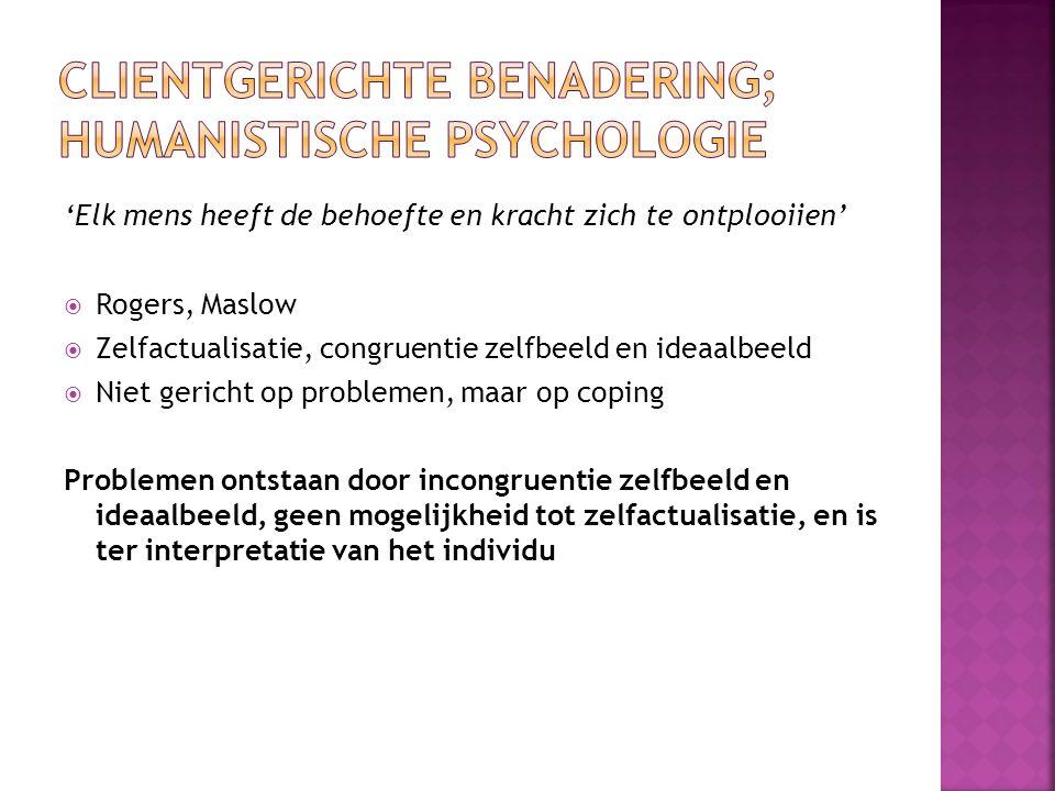 Clientgerichte benadering; humanistische psychologie