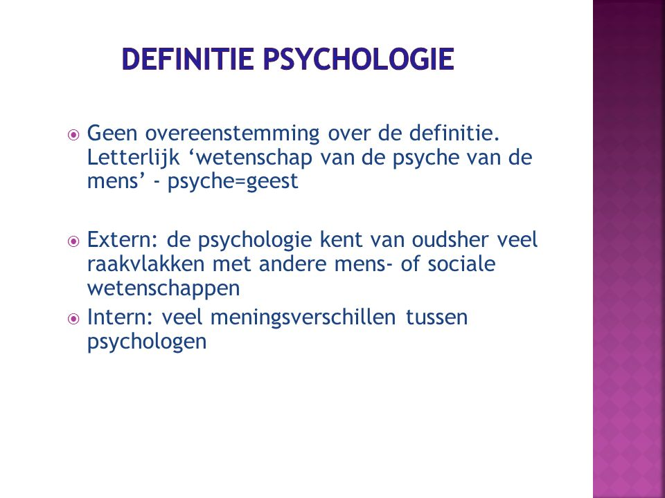 Definitie Psychologie