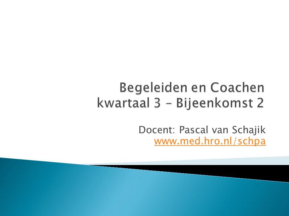 Begeleiden en Coachen kwartaal 3 – Bijeenkomst 2