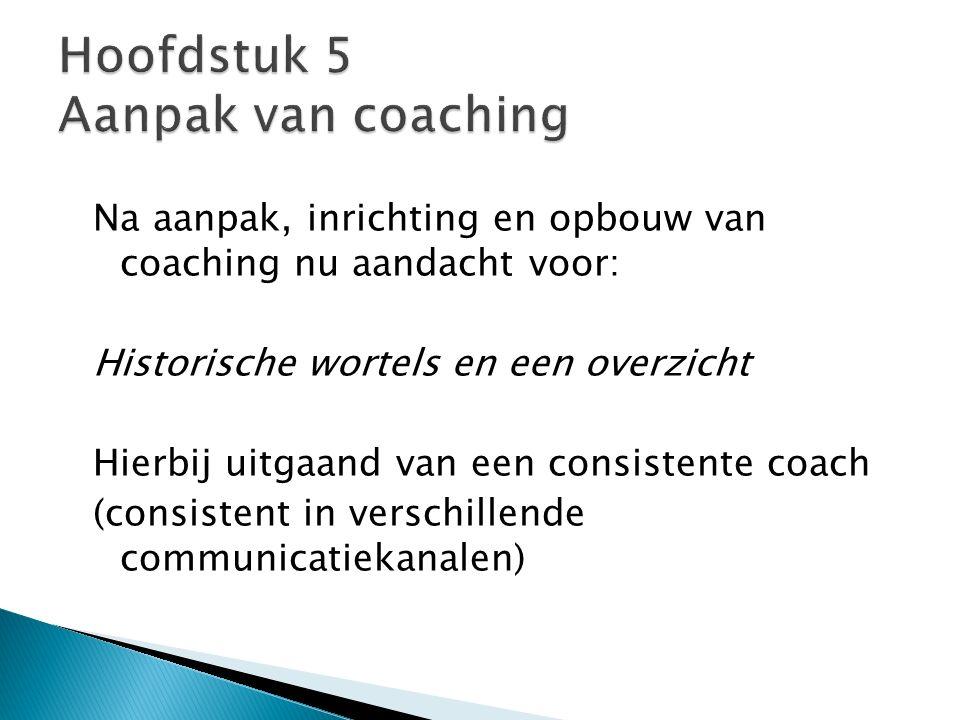 Hoofdstuk 5 Aanpak van coaching