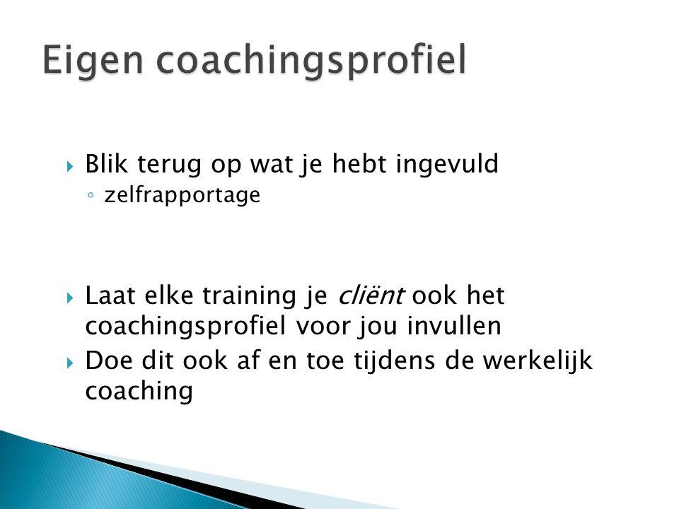 Eigen coachingsprofiel