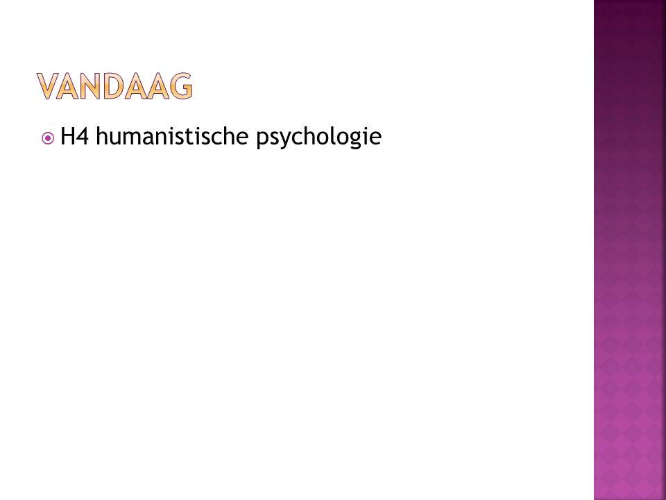 Vandaag H4 humanistische psychologie