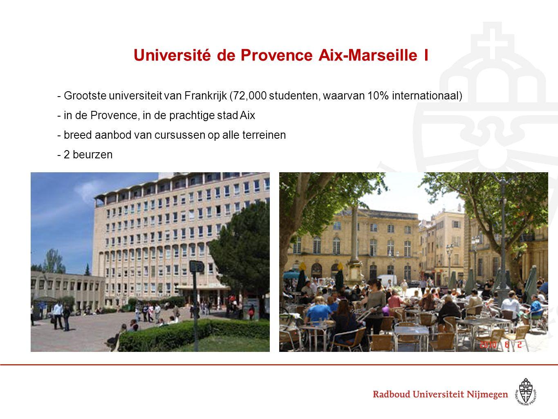Université de Provence Aix-Marseille I