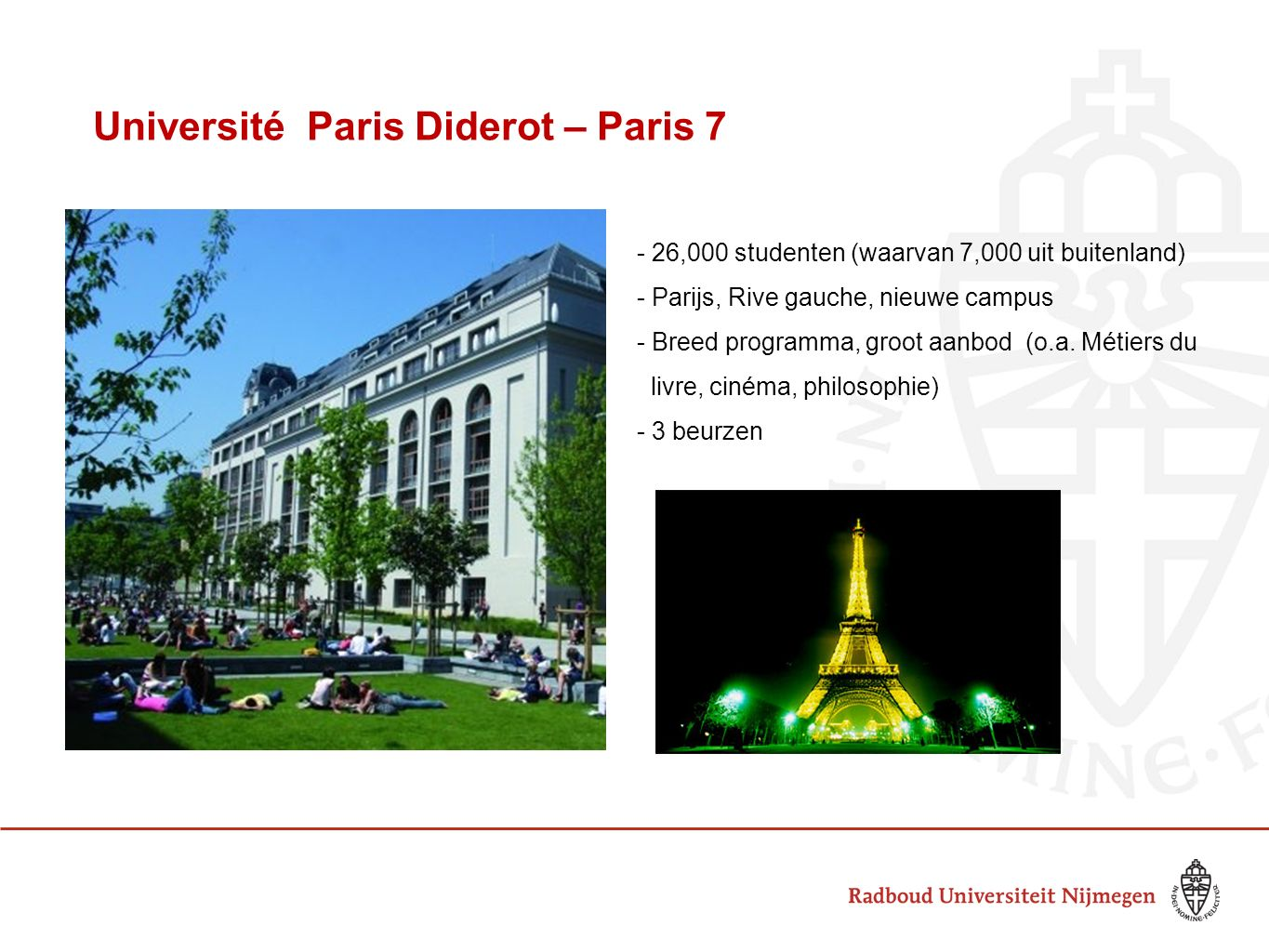 Université Paris Diderot – Paris 7