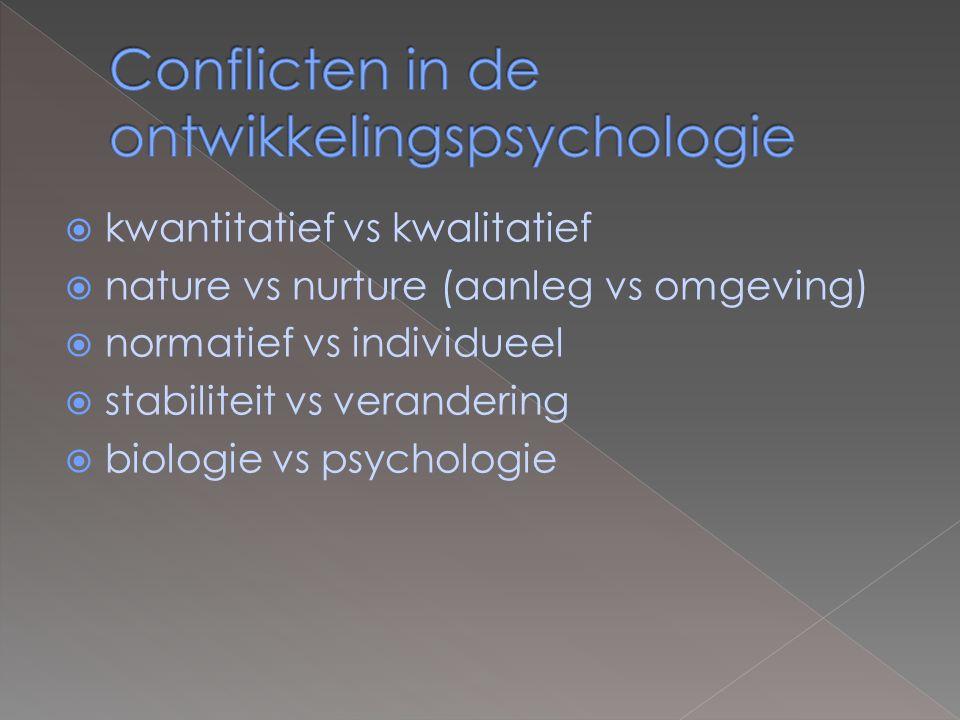 Conflicten in de ontwikkelingspsychologie
