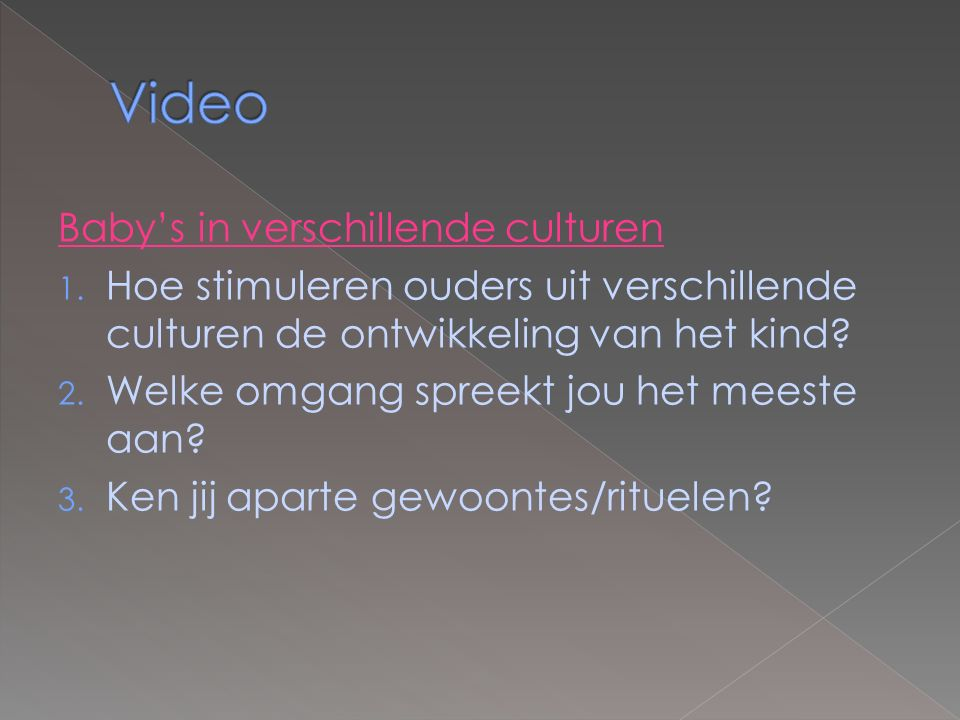 Video Baby's in verschillende culturen