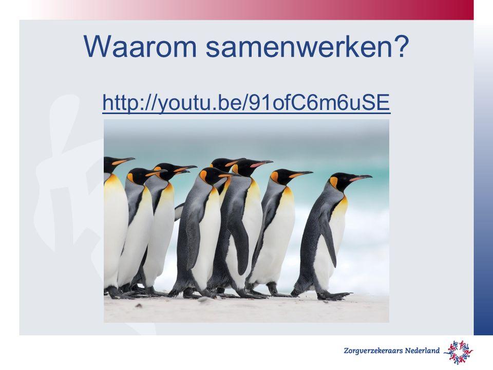 Waarom samenwerken http://youtu.be/91ofC6m6uSE