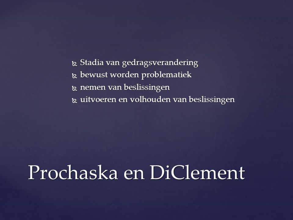 Prochaska en DiClement